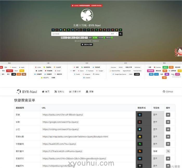 20200526155829_38147.jpg 个性漂亮轻量级可配置网站导航源码 Fomantic UI web框架构建  免费源码 第1张